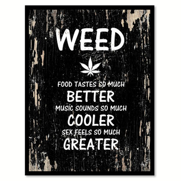 Weed Adult Quote Saying Gifts Ideas Home Decor Wall Art