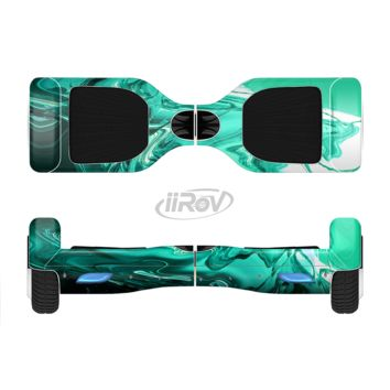 The Bright Trendy Green Color Swirled Full Body Skin Set for the Smart Drifting SuperCharged Transportation iiRov