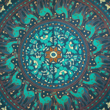 Indian Bohemian Tapestry Mandala Full Sheets Wall Art Hippie Tapestry 92X82 Indian