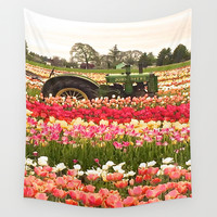 Deere in the Field Wall Tapestry by Casey J. Newman