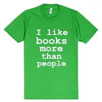 Books are awesome!-Unisex Grass T-Shirt