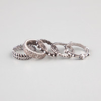 FULL TILT 5 Piece Etched Rings | Rings
