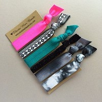 The Vanessa Elastic Hair Tie Ponytail Holder Collection by Elastic Hair Bandz