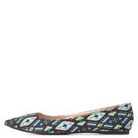 Aztec Print Pointy Toe Ballet Flats by Charlotte Russe