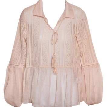 For Your Love Nude Lace Top