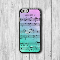 iPhone 6 Case Music Sheet Note Song Canon iPhone 6 Plus, iPhone 5S, iPhone 5 Case, iPhone 5C Case, iPhone 4S Case, iPhone 4 Rainbow Colored