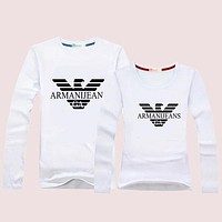 Armani Women Men Lover Casual Long Sleeve Top Sweater Pullover