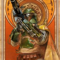 """Star Wars Empire Strikes Back Boba Fett """"Cloud City Gambit"""" Lithograph by Lee Kohse"""