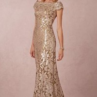 Odette  Wedding Guest  Wedding Guest Dress by Anthropologie x BHLDN in Ginseng Size: