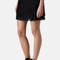 Topshop Asymmetric Pleat Skirt