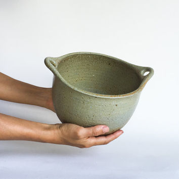 LARGE MIXING BOWL rustic ceramic, pottery, ceramics, mixing, batterbowl, batter, salad, pasta, popcorn, serving