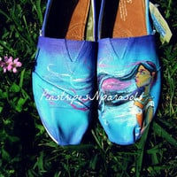 Color of the Wind Pocahontas Inspired Toms by pinstripesNparasols