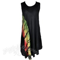 Rasta and Reggae Diagonal Tie Dye Dress at RastaEmpire.com