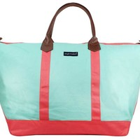 Simply Southern Collection Weekender Bag in Mint MU838-MINT-CORAL