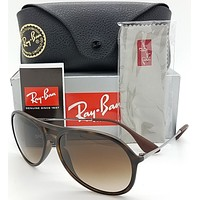 NEW Rayban Sunglasses Alex RB4201 865/13 59 Tortoise w/ Brown Gradient NIB 4201