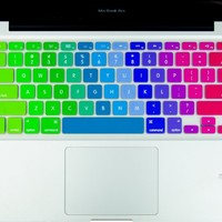 """Kuzy - Newest Rainbow Keyboard Cover Silicone Skin for MacBook Pro 13"""" 15"""" 17"""" (with or w/out Retina Display) iMac and MacBook Air 13"""" - Newest Rainbow"""