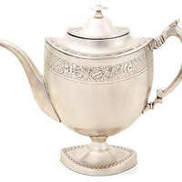 Dessau Home Antique Silver Decorative English Teapot With Embossing - R193