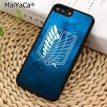 Cool Attack on Titan MaiYaCa Symbol  Phone Case Cover for iPhone 5 5s SE 6 6s 7 8 X XR XS max samsung galaxy S5 S6 S7 edge S8 S9 Plus AT_90_11