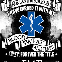 """""""Forever the Title EMT"""" Vinyl Decal Sticker (5"""" tall)"""