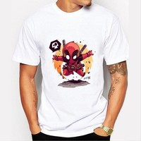 Deadpool Dead pool Taco 2016 Fashion  T-shirt Men Summer Clothing Harajuku Funny Short Sleeve T Shirt For Male Swag Tees Tshirt AT_70_6