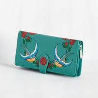 I Bird You Farewell Wallet | Mod Retro Vintage Wallets | ModCloth.com