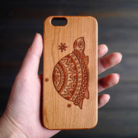 Turtle iPhone 6 6s Wood Case , Wooden iPhone 6 6s Case , Custom iPhone 6 6s Case Wood , Wood iPhone 6 6s Case , Valentines Gifts for him