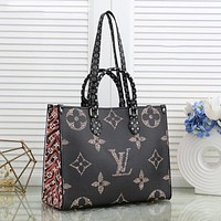 Louis Vuitton LV new presbyopia color matching large capacity tote bag