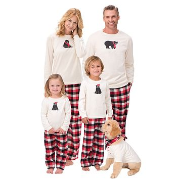 Red Plaid Reindeer Christmas Pajamas