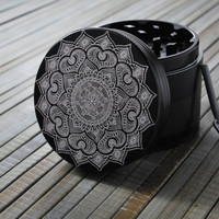 CalSea // 4 Piece Herb Grinder - Mandala of love