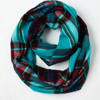 One Pine Day Circle Scarf in Aqua by ModCloth