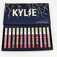 Kylie Kyshadow Lip Color Does Not Touch The Goblet Matte Lipstick Lip Gloss Lipstick 12 Color Set I13757-1