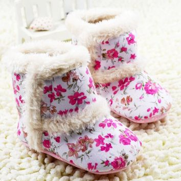 Infant Newborn Baby Winter Boots Crib Shoes | Available in 3 Colors of Tribal Print | Sizes 0-1