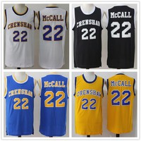 Cheap #22 Quincy McCall Jersey Movie Basketball Crenshaw Jersey High School Black Yellow Blue White Basketball Jerseys Men's Accept Mix Orde