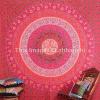 Queen Red Mandala Hippie Hippy Wall Hanging Indian Tapestry Throw Bedspread Bed Decor Sheet Ethnic Decorative Art