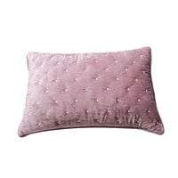 Tache Velvet Dreams Purple Mauve Plush Diamond Tufted Pillow Sham (JHW-853P)
