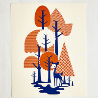Woodland Creature Grove for It! Print by ModCloth