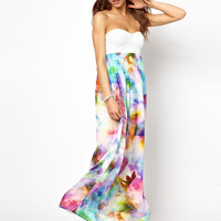 Lashes Of London Maxi Dress with PU Bandeau at asos.com