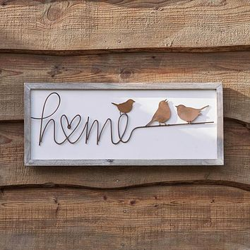 Home Wood and Copper Sign