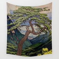 The Downwards Climbing Wall Tapestry by Kijiermono