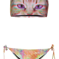 Pink Kitty Bandeau Bikini - New In This Week - New In - Topshop USA