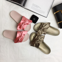 Fashion Cute Comfortable  Solid Color Bow Sandals Shoes