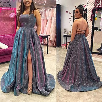 vestidos Glittering Gold Sequin Evening Dresses New Backless Party Gowns Ball Gown Red Prom Dress платья знаменитостей