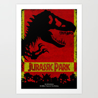 Unofficial Jurassic Park Movie Poster Art Print by Gruntbuddy