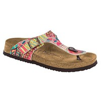 Papillio by Birkenstock Women's Gizeh African Wax Raspberry Synthetic Sandals