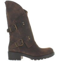 Coolway Cookie - Brown Leather Dual Buckle Boot