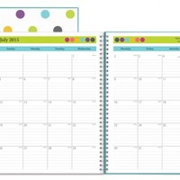 July 2015 - June 2016 Today's Teacher Clear Cover Dots Lesson Plan Book 8.5x11