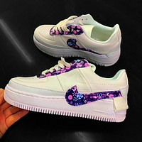 Wearwinds Nike Air Force 1 AF1 Flat Shoes Sports Sneakers Women Purple Star Shoes