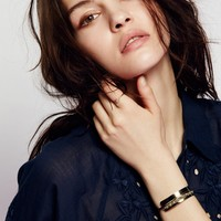 Free People Raw Stone Topped Cuff
