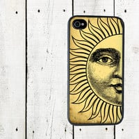 Sun iPhone Case  iPhone 4 and 4s Celestial Cell Phone by Arete