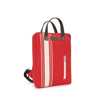 NEW! Laptop Backpack - Mod Stripe Cream/ Red